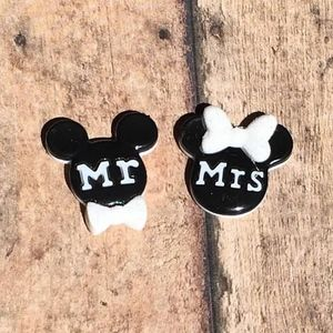 Jewelry - Mickey & Minnie Mouse Wedding Earrings